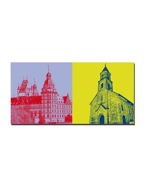 ART-DOMINO® BY SABINE WELZ Aschaffenburg - Schloss Johannisburg + Christuskirche