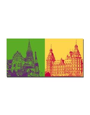 ART-DOMINO® BY SABINE WELZ Aschaffenburg - Stiftskirche + Schloss Johannisburg