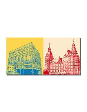 ART-DOMINO® by SABINE WELZ Aschaffenburg - Rathaus + Schloss Johannisburg