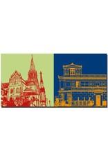 ART-DOMINO® BY SABINE WELZ Aschaffenburg - Stiftskirche + Pompejanum, seitlich