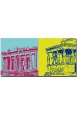 ART-DOMINO® BY SABINE WELZ Athen - Akropolis + Nike-Tempel