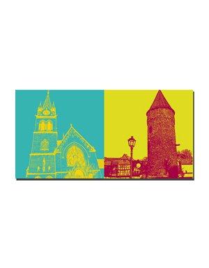 ART-DOMINO® BY SABINE WELZ Bad Homburg - St. Marien + Rathausturm