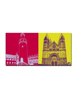 ART-DOMINO® BY SABINE WELZ Bad Homburg - Weisser Turm + Ev. Erlöserkirche