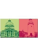 ART-DOMINO® BY SABINE WELZ Bad Homburg - Kaiser-Wilhelm-Bad + Weisser Turm / Innenhof
