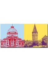 ART-DOMINO® BY SABINE WELZ Bad Homburg - Kaiser-Wilhelm-Bad + Ritter-von-Marx-Brücke