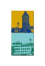 ART-DOMINO® BY SABINE WELZ Bad Homburg - Tour de la mairie + Château de Bad Homburg