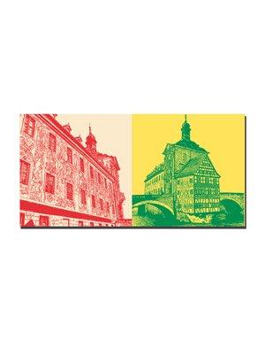 ART-DOMINO® BY SABINE WELZ Bamberg - Altes Rathaus Freskenfassade + Altes Rathaus
