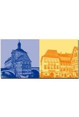 ART-DOMINO® by SABINE WELZ Bamberg - Altes Rathaus + Altstadthäuser Dominikanerstrasse