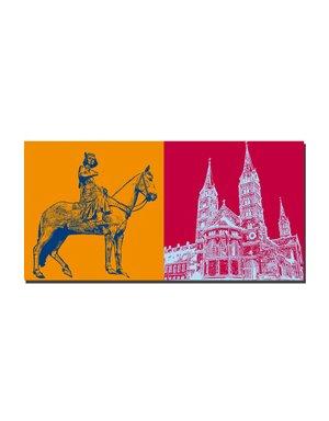 ART-DOMINO® BY SABINE WELZ Bamberg - Bamberger Reiter + Dom