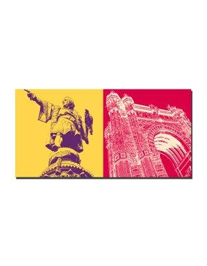 ART-DOMINO® BY SABINE WELZ Barcelona - Columbus-Säule + Arc de triomf