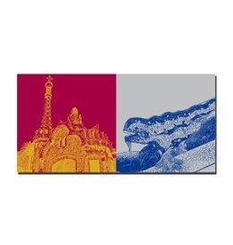 ART-DOMINO® BY SABINE WELZ LEINWANDBILD - BARCELONA - 4706