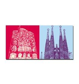 ART-DOMINO® by SABINE WELZ LEINWANDBILD - BARCELONA - 4709