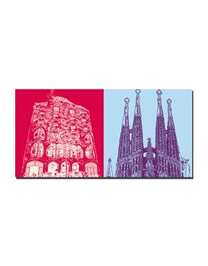 ART-DOMINO® BY SABINE WELZ Barcelona - Casa Batllò + Sagrada Familia