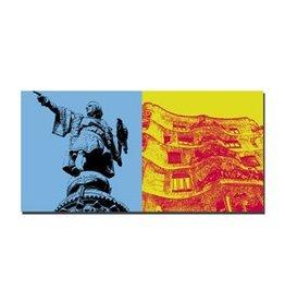 ART-DOMINO® BY SABINE WELZ LEINWANDBILD - BARCELONA - 4711