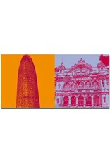 ART-DOMINO® BY SABINE WELZ Barcelona - Torre Agba + Hafengebäude
