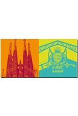 ART-DOMINO® BY SABINE WELZ Barcelona - Sagrada Familia + La Boqueria