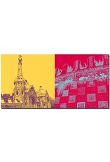 ART-DOMINO® BY SABINE WELZ Barcelona - Park Güell + Detail Freitreppe