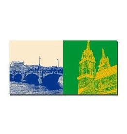 ART-DOMINO® BY SABINE WELZ LEINWANDBILD - BASEL - 9400