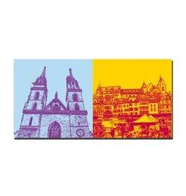 ART-DOMINO® BY SABINE WELZ LEINWANDBILD - BASEL - 9413