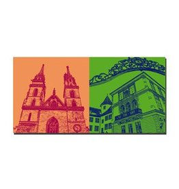 ART-DOMINO® BY SABINE WELZ LEINWANDBILD - BASEL - 9414