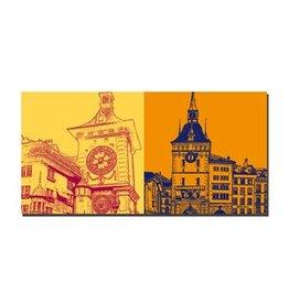 ART-DOMINO® BY SABINE WELZ LEINWANDBILD - BERN - 9103