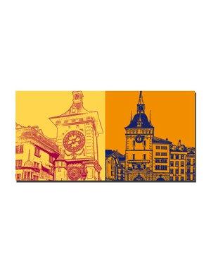 ART-DOMINO® BY SABINE WELZ Bern - Zytglogge + Käfigturm