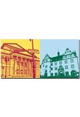 ART-DOMINO® BY SABINE WELZ Darmstadt - Haus der Geschichte + Altes Rathaus