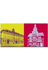 ART-DOMINO® BY SABINE WELZ Eisenach - Stadtschloss + Rathaus