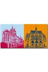 ART-DOMINO® BY SABINE WELZ Erfurt - Dom St. Marien + Rathaus