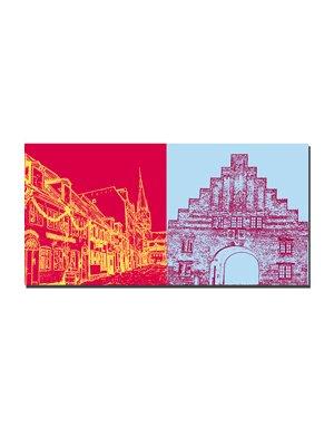 ART-DOMINO® BY SABINE WELZ Flensburg - Rote Strasse + Nordertor