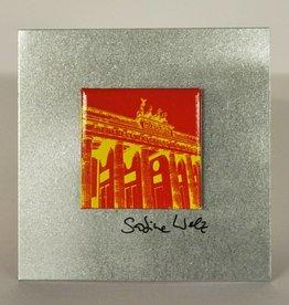 ART-DOMINO® BY SABINE WELZ METALLPLATTEN IM FORMAT 8,5 x 8,5 CM