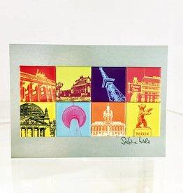 ART-DOMINO® BY SABINE WELZ METALLPLATTEN IM FORMAT 13 x 18 CM