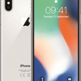 iphone iphone X  64GB  White  Zilver