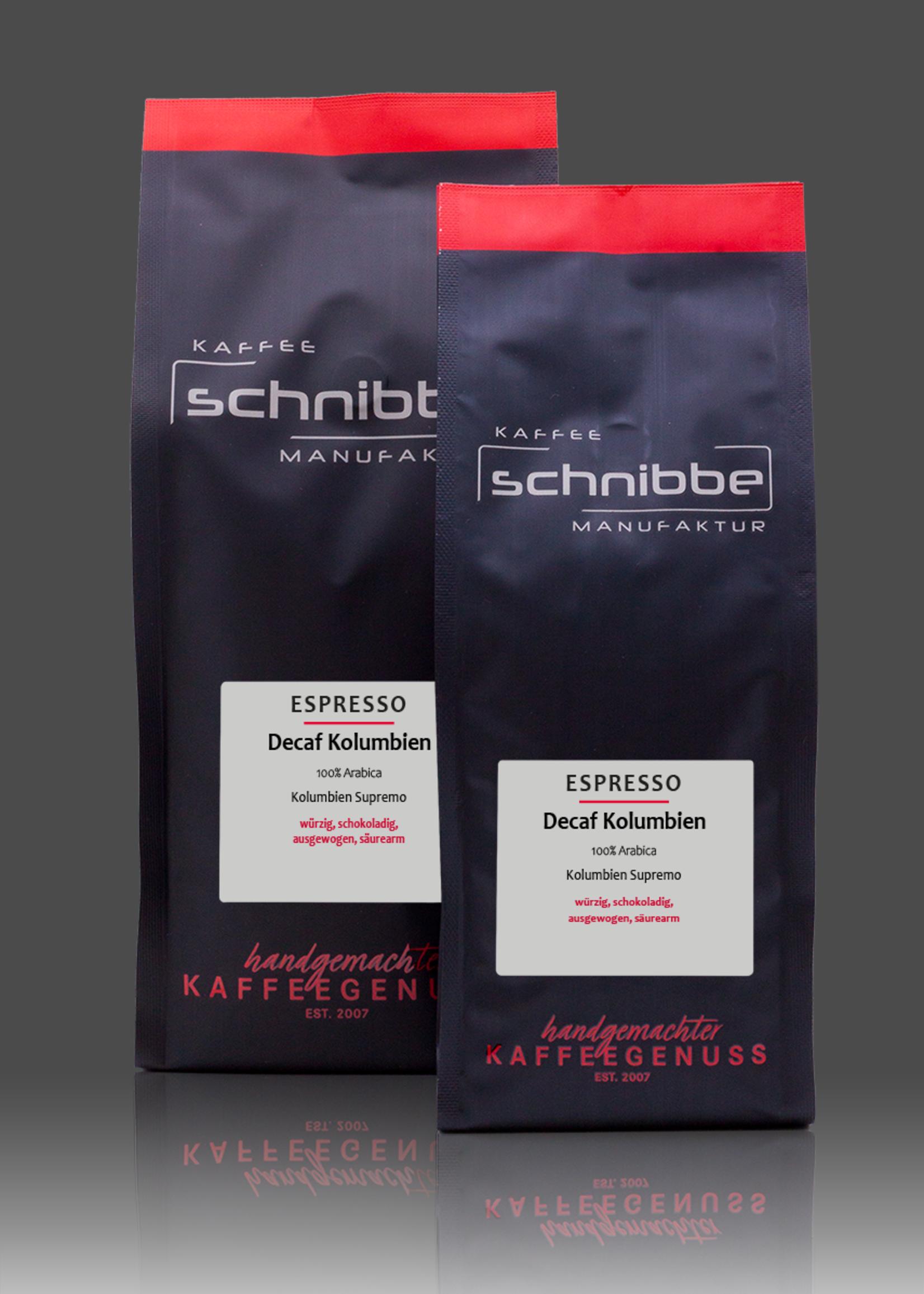 Decaffeinated espresso Colombia Supremo