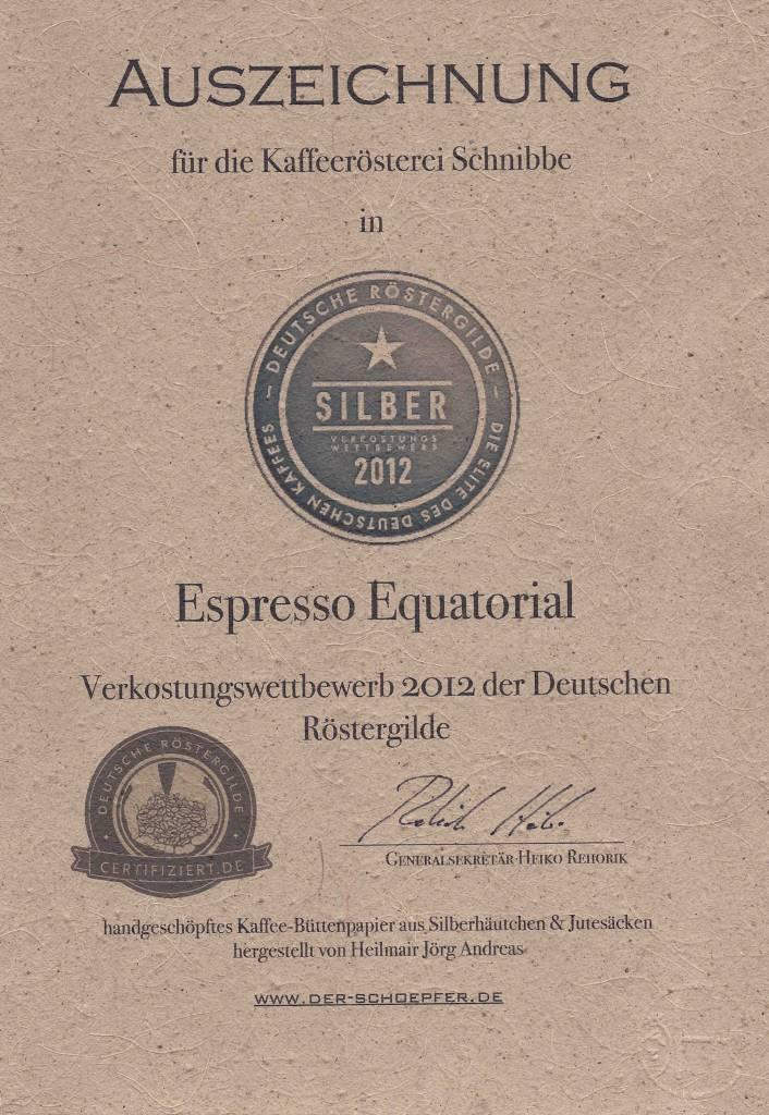 """Espresso Equatorial """"DRG Silver Medal 2012"""""""