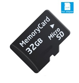 32 GB Micro SD (Klasse 10 + SD adapter)