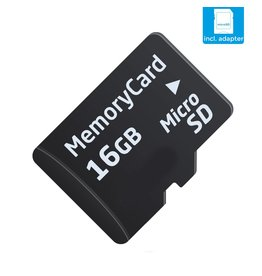 16 GB Micro SD (Klasse 10 + SD adapter)