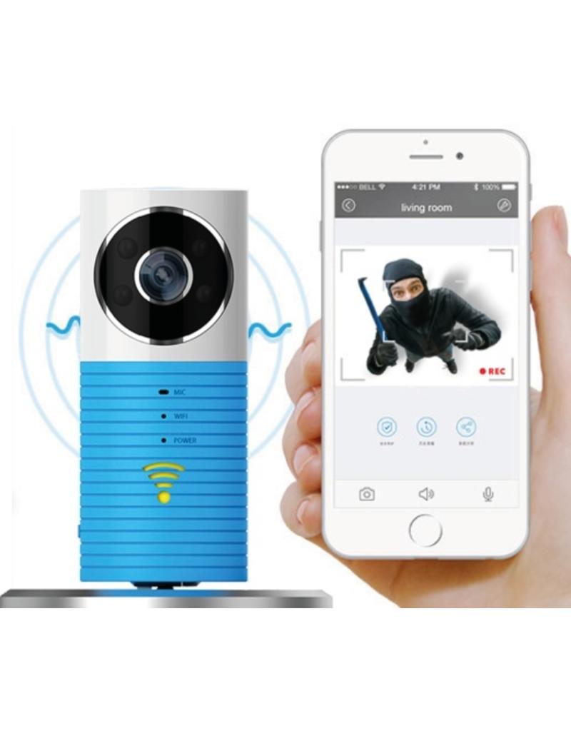 Caméra wifi Cleverdog nouveau modèle, 1280 x 720 pixels, et option stockage en nuage, gris.