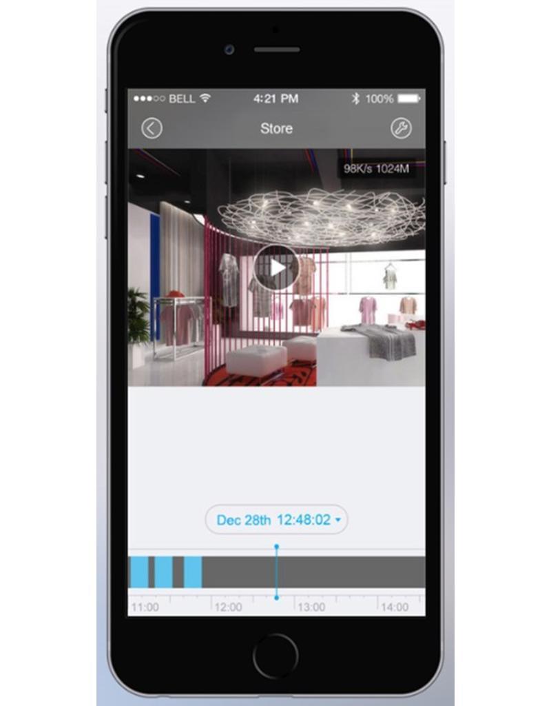 Cleverdog wifi camera nieuw model, 1280 x 720 pixels, en optie  cloud opslag, grijs.