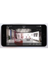 Cleverdog WiFi-Kamera neues Modell, 1280 x 720 Pixel und Option Cloud-Speicher, grau.