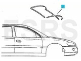 Opel Voorruitrubber onder Opel Omega-B