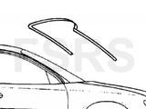 Opel Voorruitrubber boven Opel Omega-B