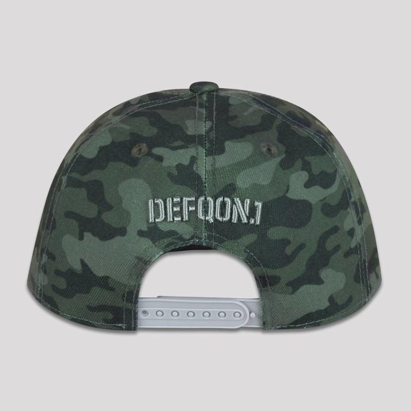 DEFQON.1 SNAPBACK GREEN CAMO / GREY