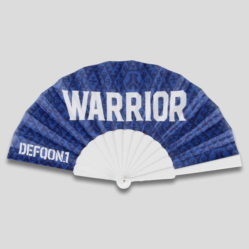 DEFQON.1 WARRIOR HANDFAN BLUE PATTERN