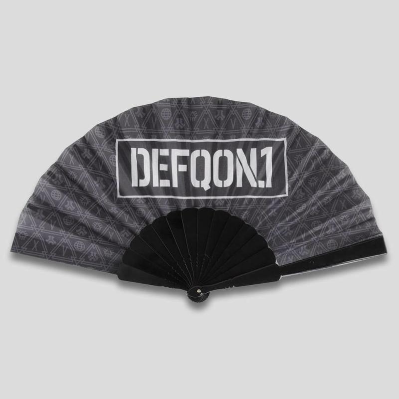 DEFQON.1 HANDFAN BASIC BLACK PATTERN