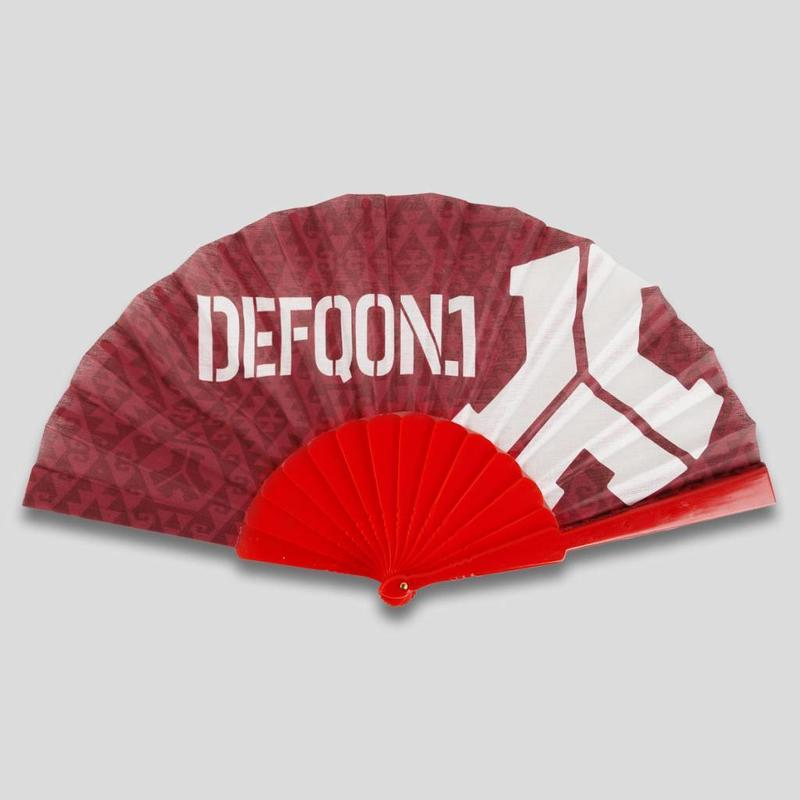 DEFQON.1 HANDFAN RED ALL OVER PATTERN