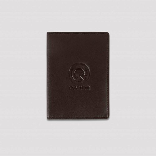 Q-DANCE Q-DANCE PASSPORT COVER LEATHER BROWN