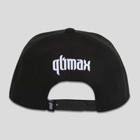 QLIMAX SNAPBACK BLACK LEATHER