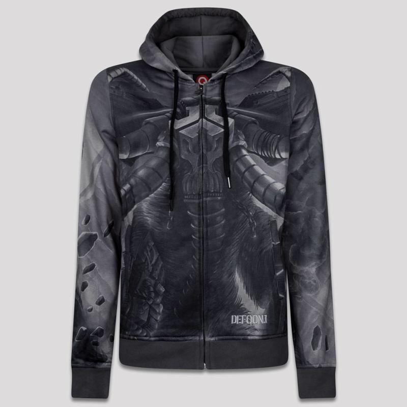 DEFQON.1 HOODED ZIP BLACK/GREY