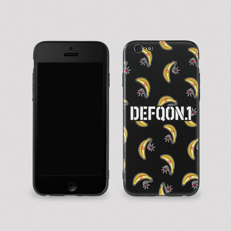 Defqon.1Power Hour phone case black/banana